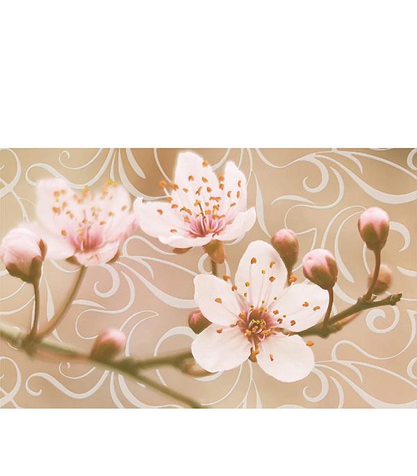 Плитка декор Сакура 250х400х8 мм коричневый 02
