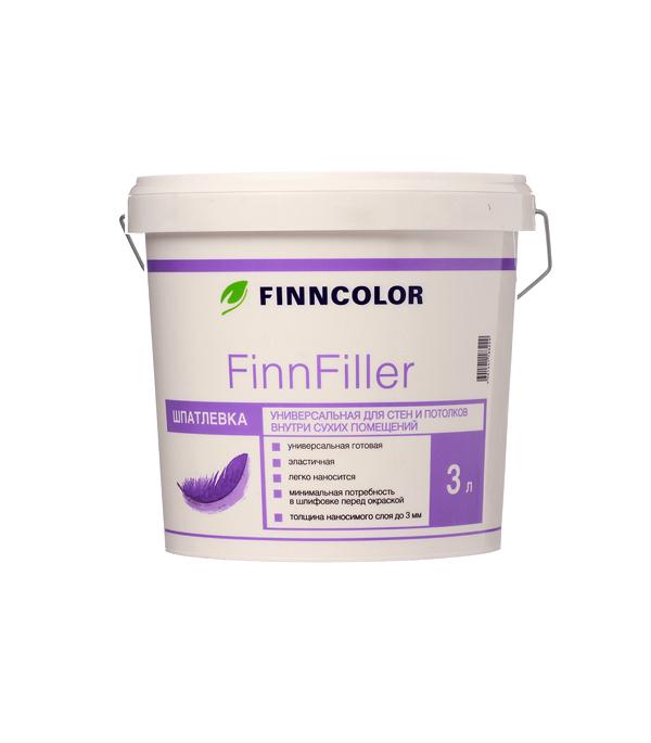 Шпатлевка финишная Finncolor Finnfiller 3 л шпатлевка финишная основит элисилк ра39 w 28 кг