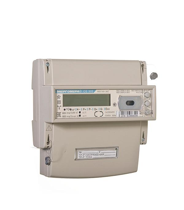 Счетчик Энергомера CE 303R33 60/5 T4 RS485 3-фазный электронный многотарифный на дин-рейку/щит