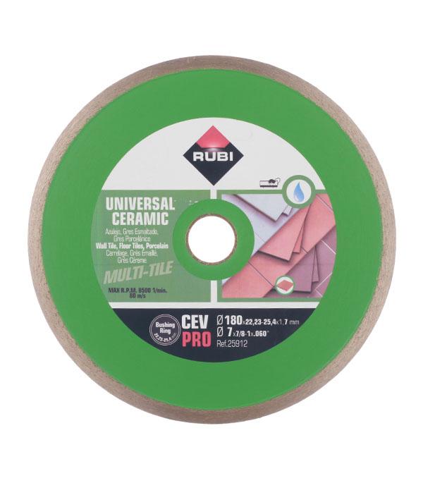 Диск алмазный сплошной по керамике Rubi BL-С180 180х22.2 мм диск алмазный сплошной по керамике hard ceramics 150х25 4 мм distar 11120048012