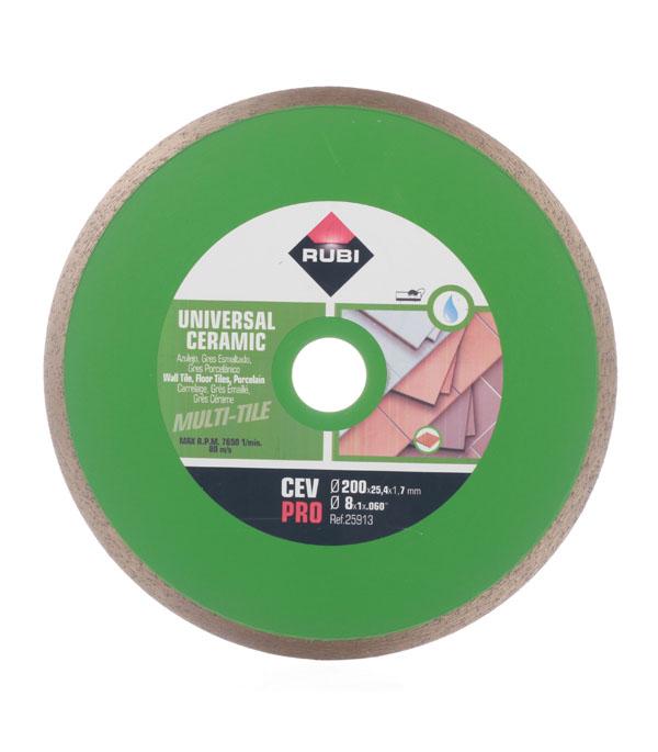 Диск алмазный сплошной по керамике Rubi BL-С200 200х25.4 мм диск алмазный сплошной по керамике 180х25 4 22 2 мм shaft