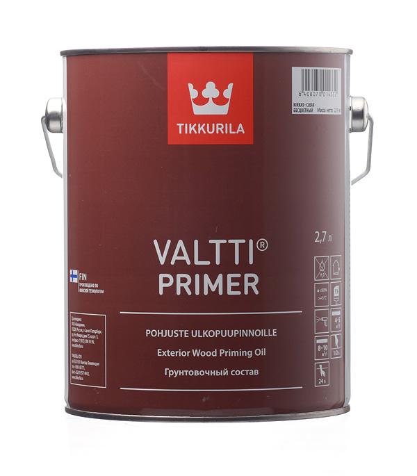 Грунт Tikkurila Valtti Primer (Pohjuste) 2.7 л состав для полка tikkurila supi laudesuoja защитный бесцветный 1л