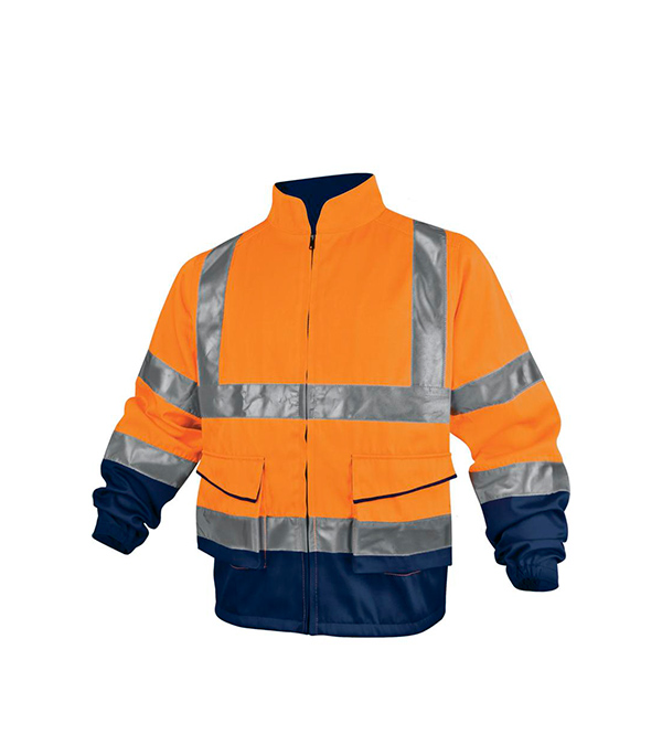 где купить Куртка Delta Plus рабочая сигнальная размер М флуоресцентный оранжевый цвет дешево