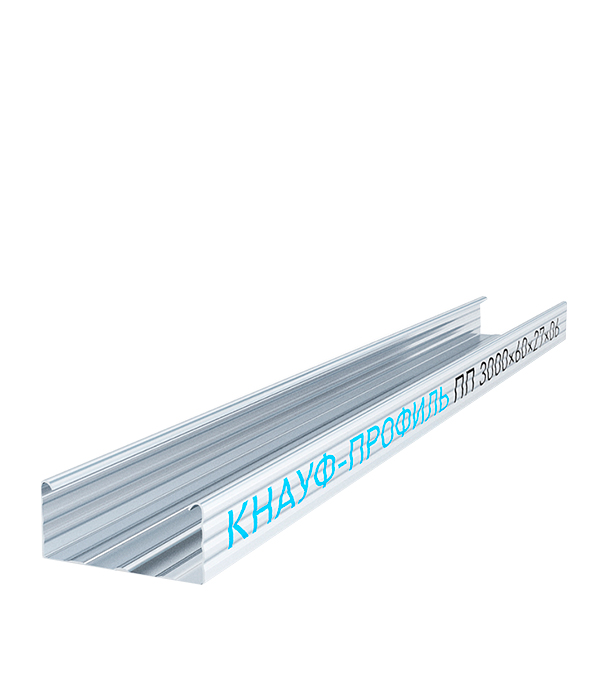 Профиль потолочный Knauf 60х27 мм 4 м 0.60 мм профиль потолочный оптима 60х27 мм 4 м 0 40 мм