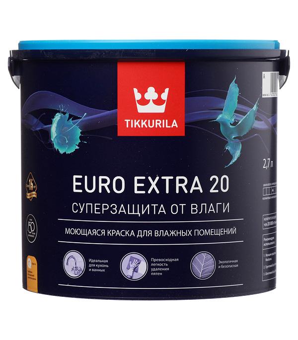 Купить Краска в/д Tikkurila Euro Extra 20 основа А полуматовая 2.7 л