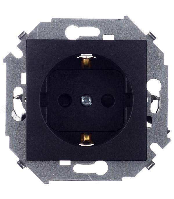Розетка 2P+E Schuko со шторками 16А 250В винтовой зажим графит Simon 15 розетка кабельная 16а 3p e 380в 214