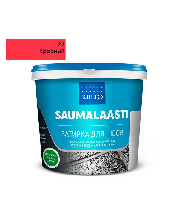 Затирка Kiilto Saumalaasti №27 красный 1 кг затирка kiilto saumalaasti 93 фиолетовый 1 кг
