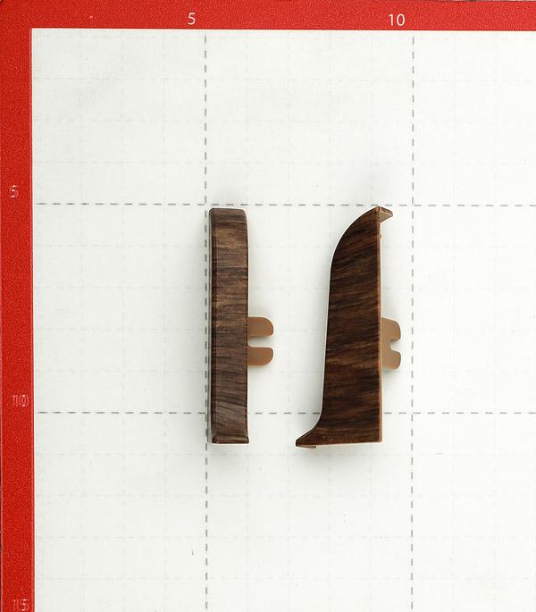 Заглушкиторцевые (левая + правая) Wimar 58 мм дубгартвис(2 шт) фото