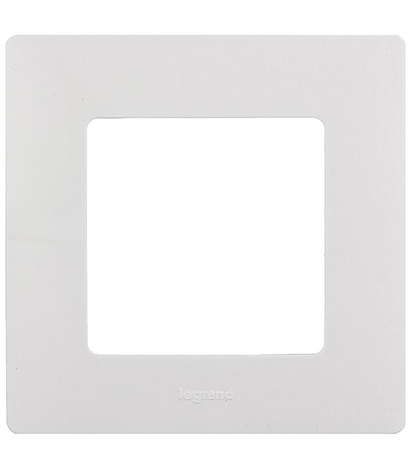 Купить Рамка одноместная универсальная Legrand Etika белая, Белый