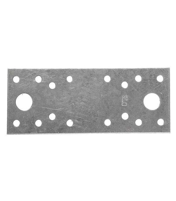 Пластина крепежная оцинкованная 130х53х2.0 мм