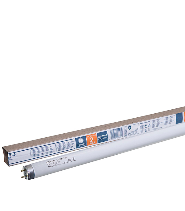 Люминесцентная лампа Osram 18W 6500К холодный свет d26 Т8 G13 590 мм