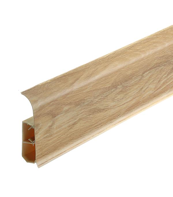 цены Плинтус ПВХ напольный Wimar 86 мм дуб гроссо 2500 мм со съемной панелью