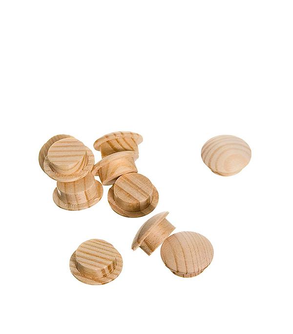 Заглушка деревянная круглая сосна диаметр 8 мм (10 шт)