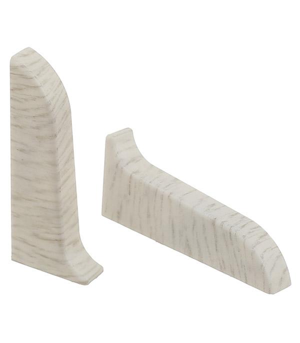 Заглушки торцевые (левая + правая) Wimar 58 мм дуб эверест (2 шт)
