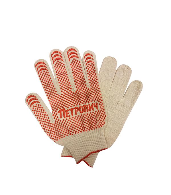 Перчатки  6 нитей рабочие с ПВХ покрытием Петрович 56-58 г размер 10 (XL) СТМ