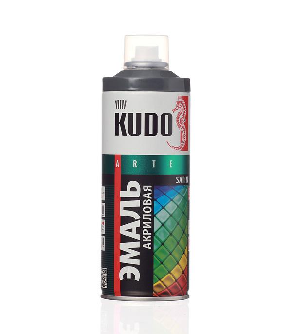 Эмаль акриловая аэрозольная Kudo satin Ral 7011 темно-серая 520 мл