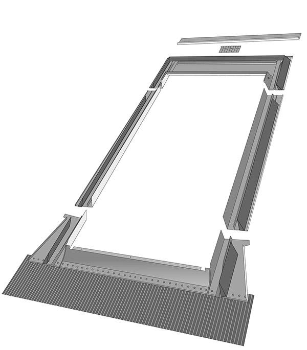 Оклад для профилированных покрытий Fakro EZV-A 780х1180 мм фото