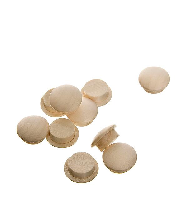 Заглушка деревянная круглая осина диаметр 10 мм (10 шт)