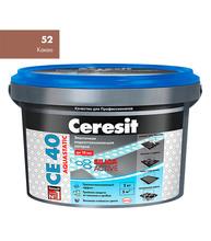 Затирка Церезит СЕ 40 aquastatic №52 какао 2 кг