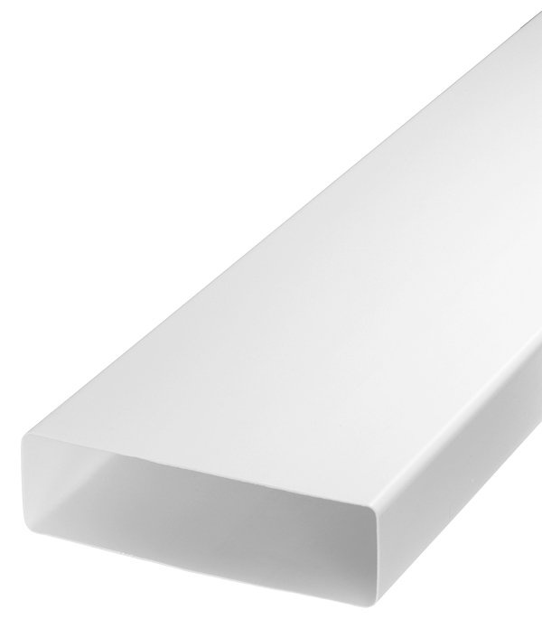 Воздуховод плоский пластиковый 60х204 мм 2 м воздуховод pro tex pvc500130 пвх