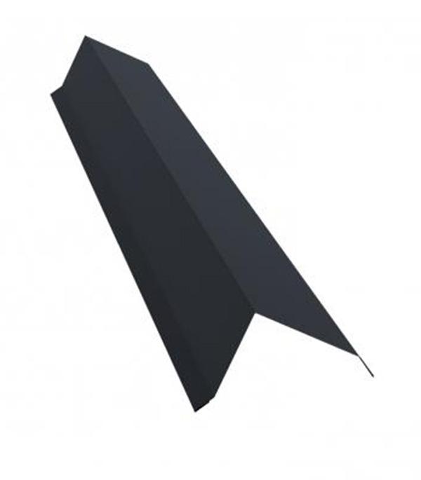 Планка торцевая для металлочерепицы 100х80 мм 2 м Satin графитовый серый RAL 7024