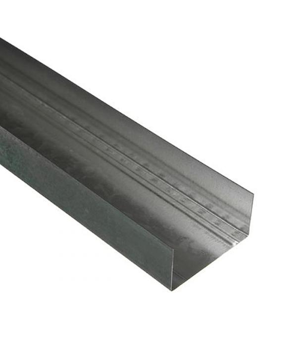Профиль направляющий Expert 75х40 мм 3 м 0.60 мм пн 75х40 3 м оптима 0 45 мм