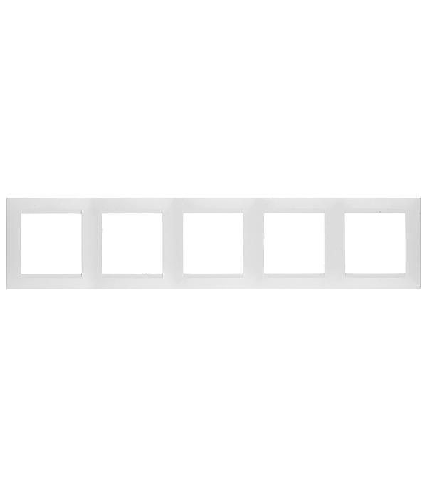 Рамка на 5 постов универсальная белый Simon 15 gira gira esp glass c салатовое стекло рамка 5 ая 0215518