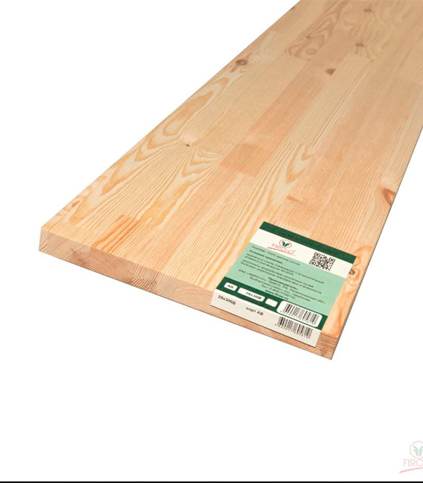 Щит мебельный хв/п. 28х400х2000 мм сорт АВ клееный