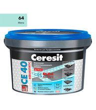 Затирка Церезит СЕ 40 aquastatic №64 мята 2 кг