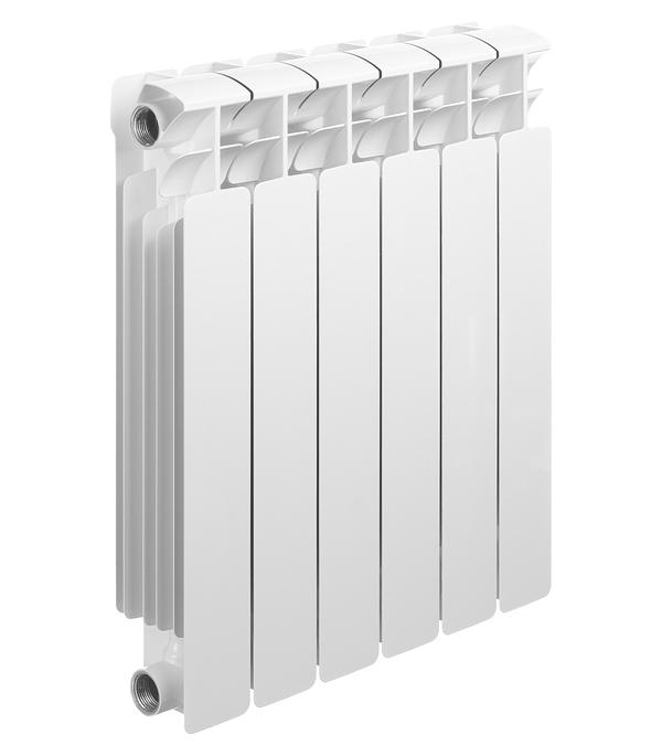 """Радиатор биметаллический Rifar Base 500 мм 6 секций 1"""" боковое подключение белый"""