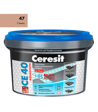 Затирка Церезит СЕ 40 aquastatic №47 сиена 2 кг