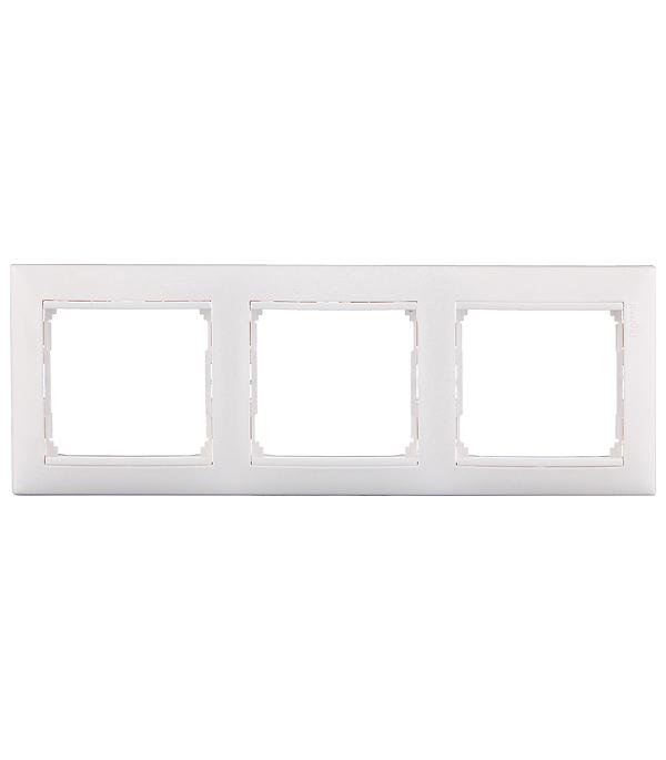 Рамка Legrand Valena 694242 трехместная универсальная белая