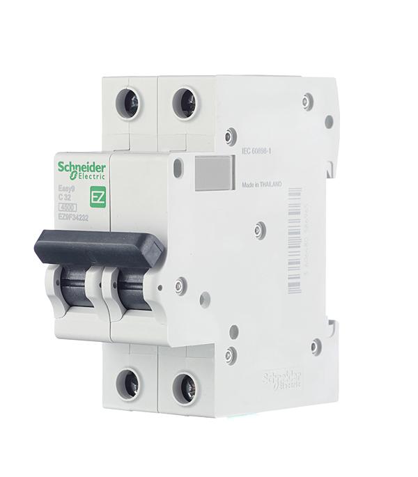 Автомат Schneider Electric Easy9 (EZ9F34232) 2P 32 А тип C 4,5 кА 400 В на DIN-рейку фото