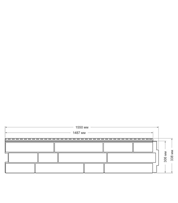 Панель фасадная Я-фасад Крымский сланец 1550х338 мм янтарь