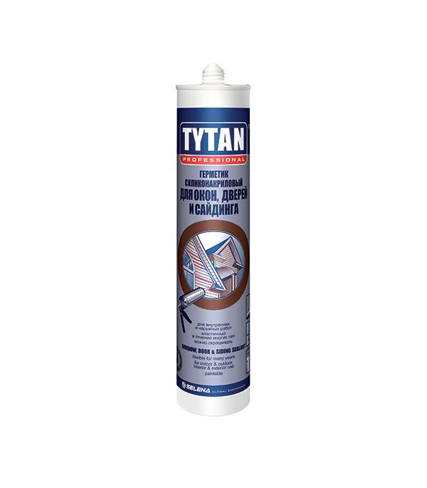 Герметик силиконакриловый для окон, дверей и сайдинга Tytan 310 мл белый цена