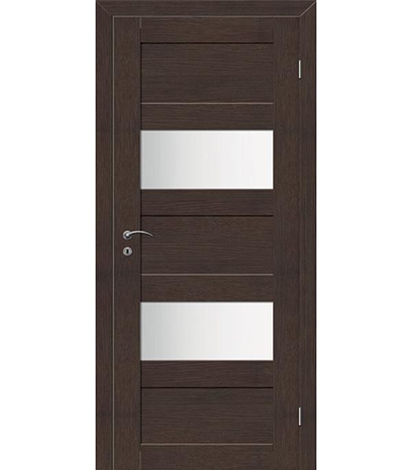 Фото - Дверное полотно VellDoris TREND 5P венге со стеклом экошпон 820x2000 мм ручка дверная 29 х 5 см
