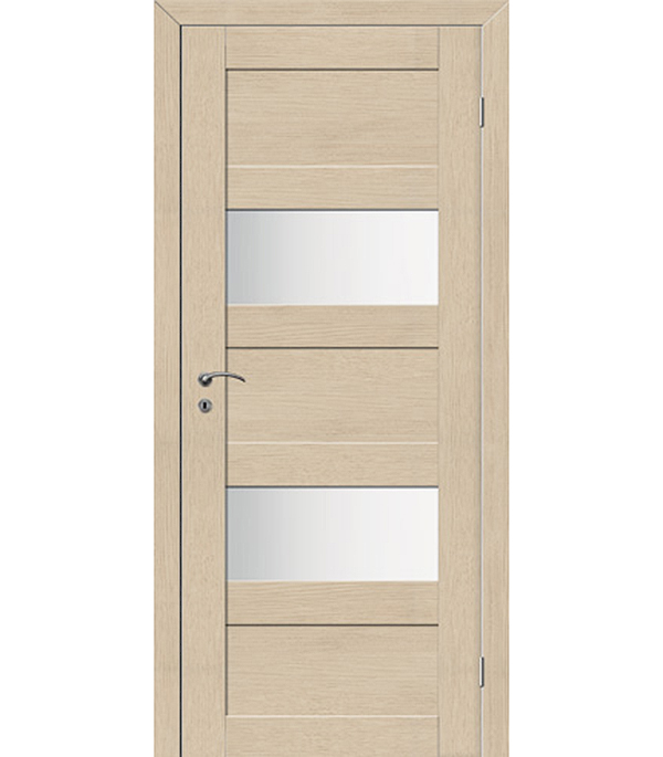 Дверное полотно VellDoris TREND 5P капучино со стеклом экошпон 820x2000 мм