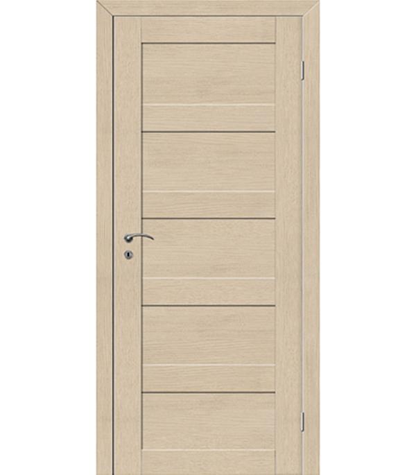 Фото - Дверное полотно VellDoris TREND 5P капучино глухое экошпон 620x2000 мм ручка дверная 29 х 5 см