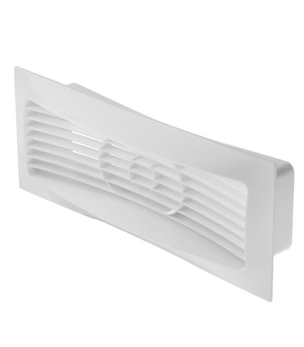Решетка вентиляционная накладная пластиковая для плоских воздуховодов 60х204 мм