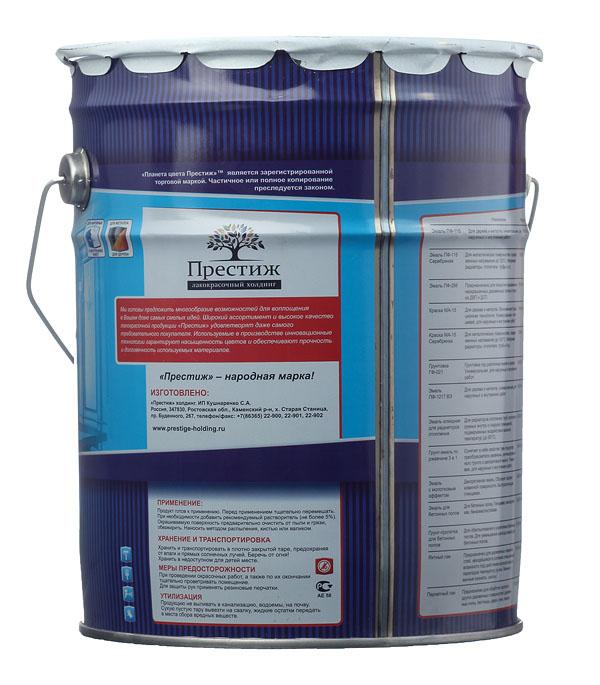 Эмаль Престиж для бетонных полов коричневая полуматовая 10 кг