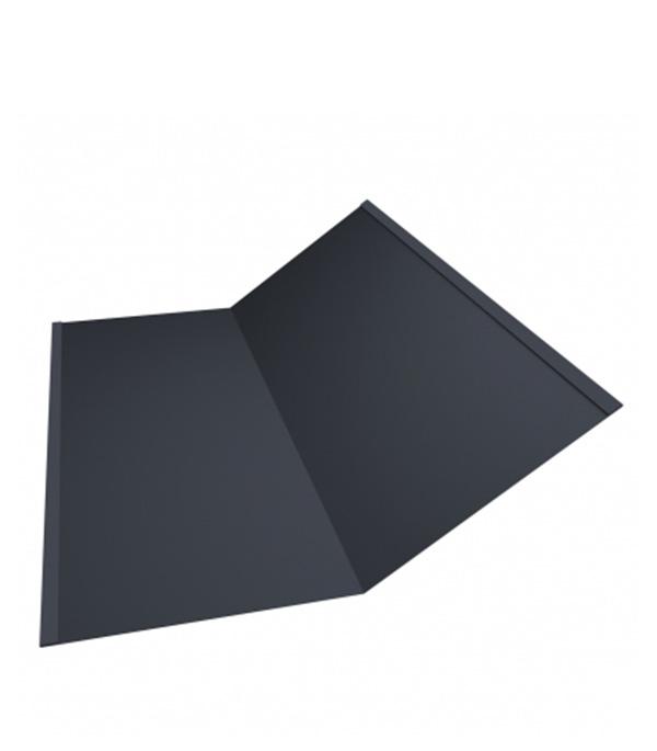 Ендова внутренняя для металлочерепицы 300х300 мм 2 м Satin графитовый серый RAL 7024