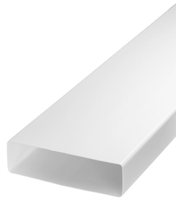 Воздуховод плоский пластиковый 60х204 мм 1 м воздуховод pro tex pvc500130 пвх