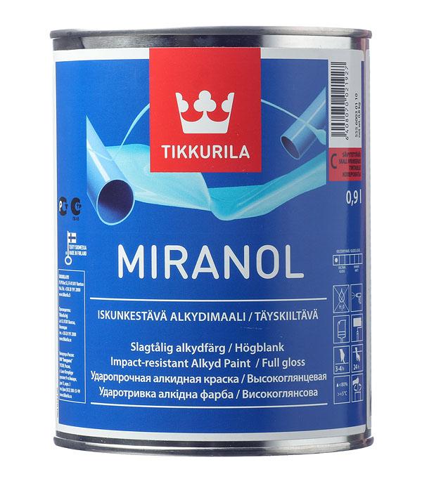 Эмаль алкидная Tikkurila Miranol основа С глянцевая 0.9 л эмаль алкидная miranol a 0 9л тиксотр