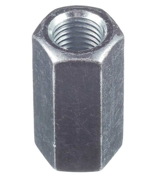 Гайка соединительная оцинкованная M16х48 мм DIN 6334 (1 шт.) цена