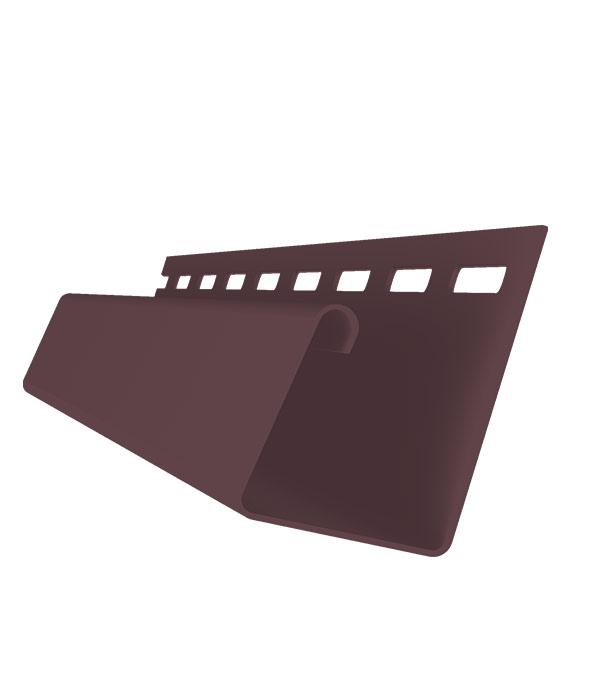 J-профиль 3000 мм коричневый фото