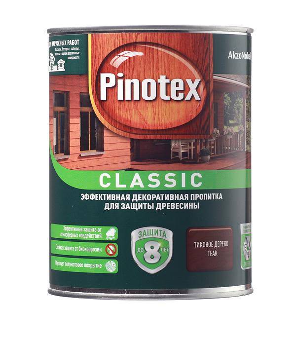 Купить Декоративно-защитная пропитка для древесины Pinotex Classic тик 1 л, Тик