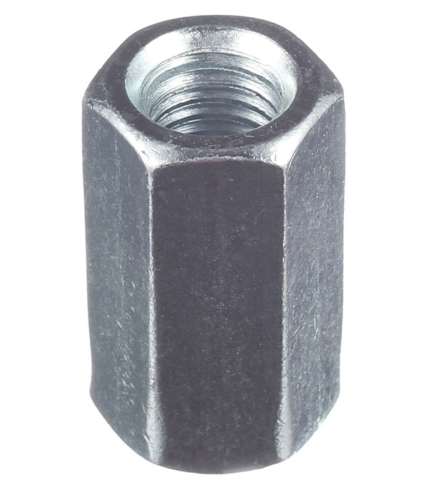Гайка соединительная оцинкованная M12х36 мм DIN 6334 (1 шт.) цена