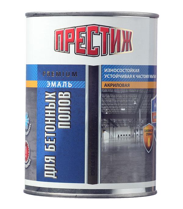 Эмаль Престиж для бетонных полов коричневая полуматовая 1 кг