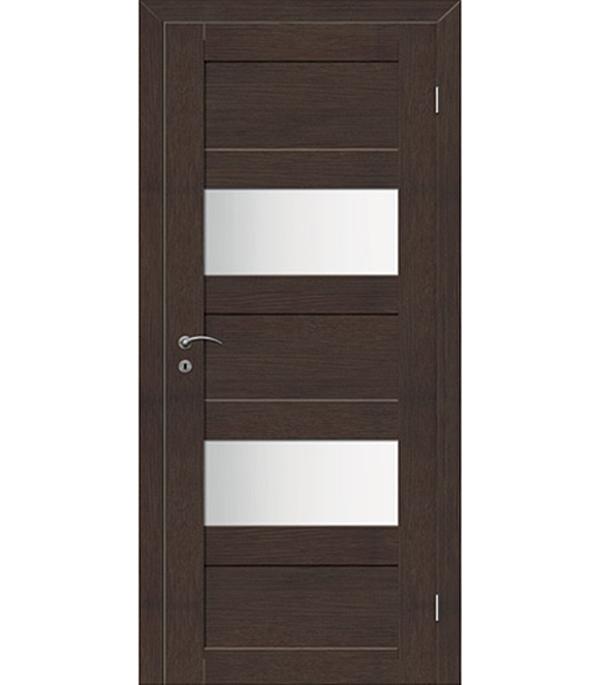 Фото - Дверное полотно VellDoris TREND 5P венге со стеклом экошпон 720x2000 мм ручка дверная 29 х 5 см