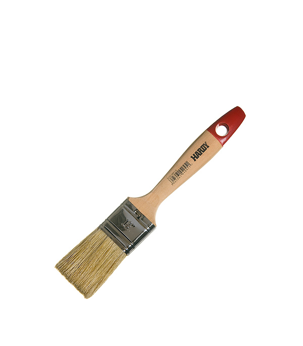 Кисть плоская Hardy 38 мм натуральная щетина деревянная ручка кисть плоская hardy 50 мм натуральная щетина деревянная ручка